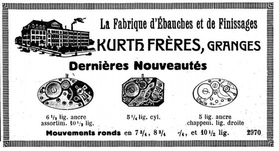 Certina was originally established as Kurth Frères SA