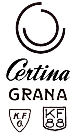 Certina' logos during time