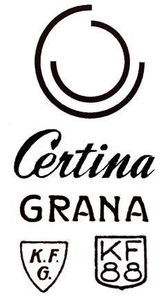 Certina' logos during time