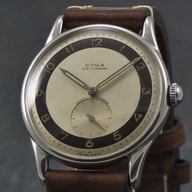 Cyma WaterSport vintage watch - Www.WristChronology.com