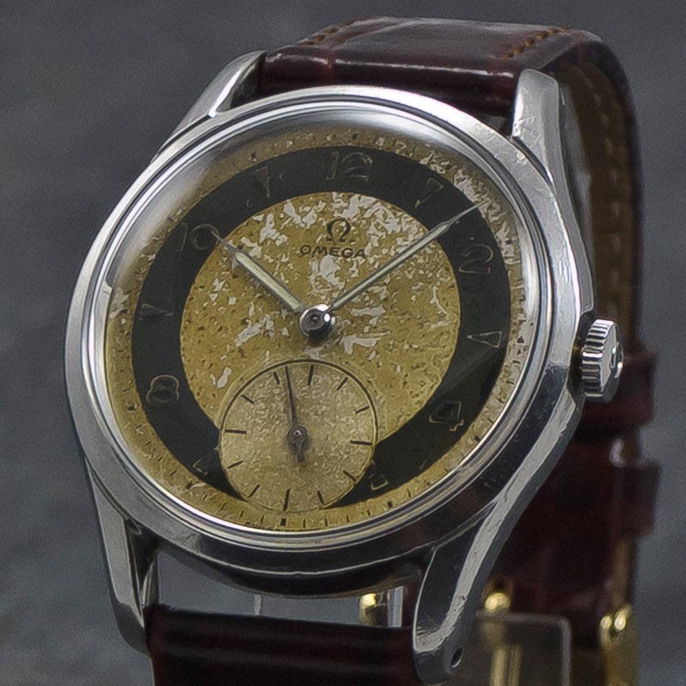 Omega BullsEye - Vintage Watch - Two Tone - anno 1951 - www.WristChronology.com