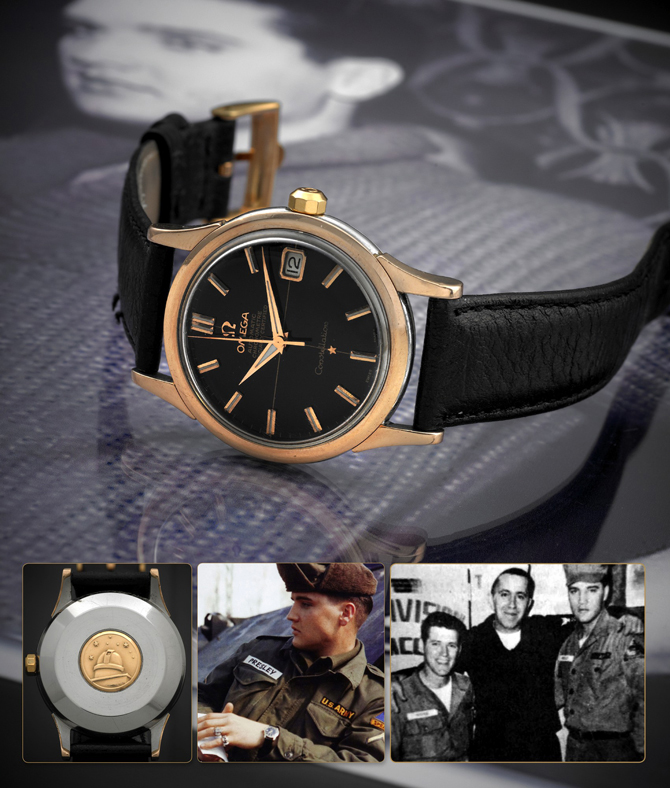 A king 39 s watch under the hammer elvis presley s omega constellation for Celebrity tissot watches